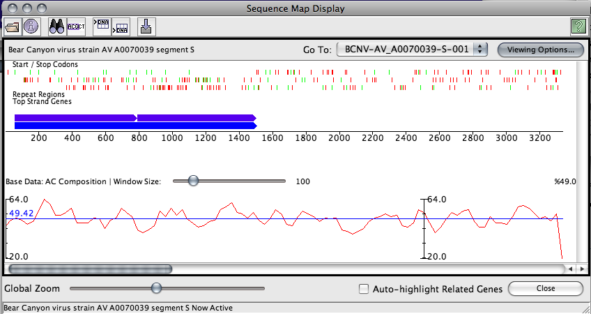 Sequence Map Display with Graph