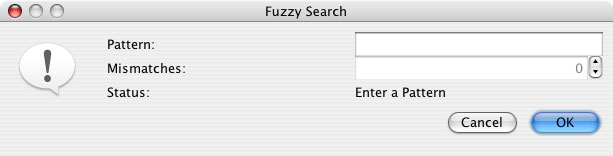 Fuzzy Motif Dialog