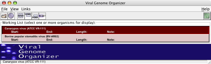 Sequence Listing Window With Sequences