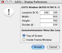 GATU Display Preferences