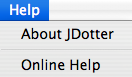 JDotter File Menu