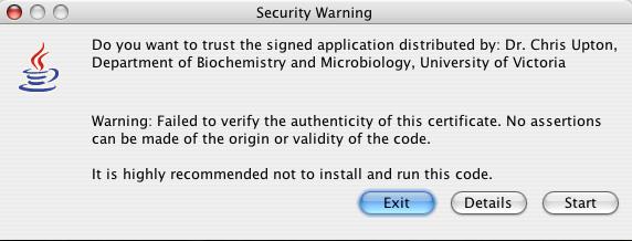 Java Web Start Warning