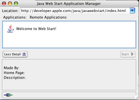 Java Web Start Application Manager